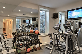 crisp architects  traditional  home gym  new york