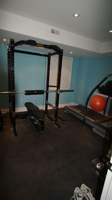 Custom Basement traditional-home-gym