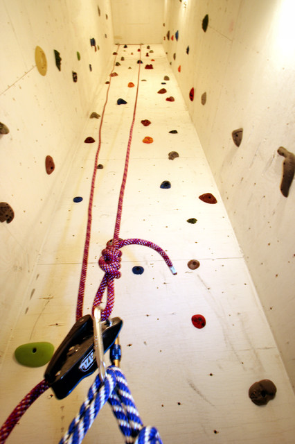 custom designed rock climbing wall - Contemporary - Home Gym ...