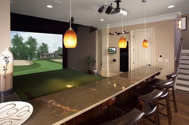 Stupendous Custom Golf Simulator For Home Or Office Contemporary Interior Design Ideas Skatsoteloinfo
