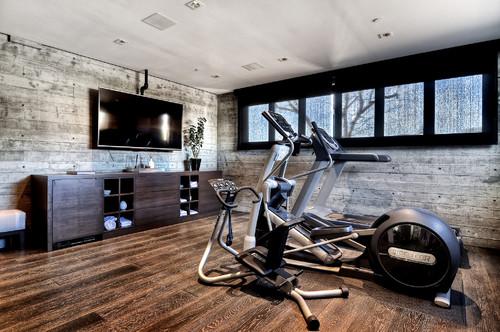 luxury garage home gym