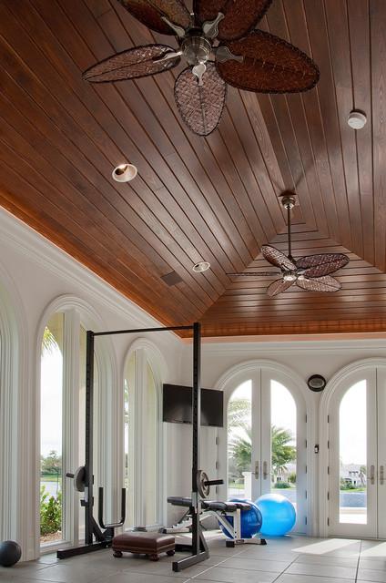 Custom Home in Westin, FL mediterranean-home-gym