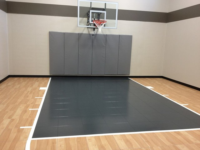 Custom indoor 1 2 basketball court gym by snapsports for Custom indoor basketball court