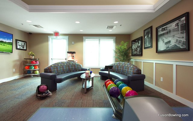 Custom Residential Bowling Alley Contemporary Home Gym