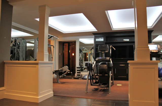 CustomWorks Contracting, LLC traditional-home-gym