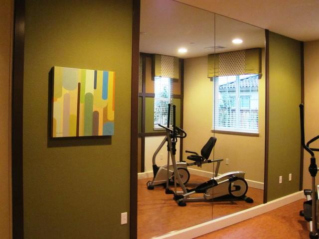 Dakota contemporary home gym san diego by klang associates
