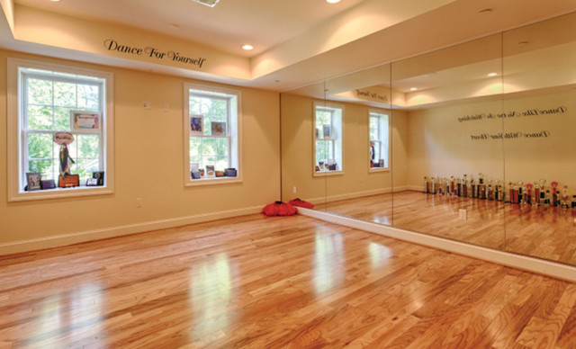 Dance Room Excercise American Traditional Home Gym