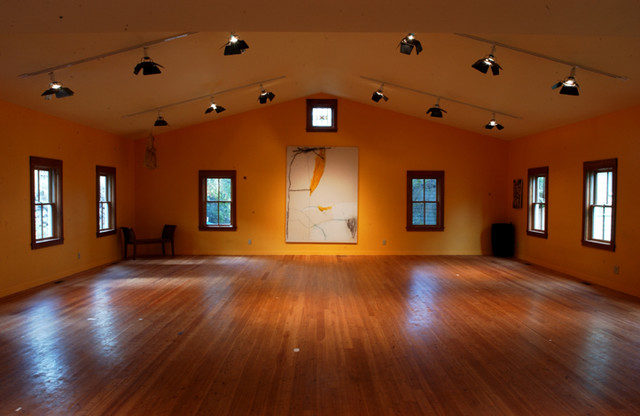 Dance Studio Guest House American Traditional Home Gym