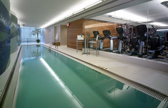 David ertz contemporary home gym philadelphia by for Indoor lap pool cost