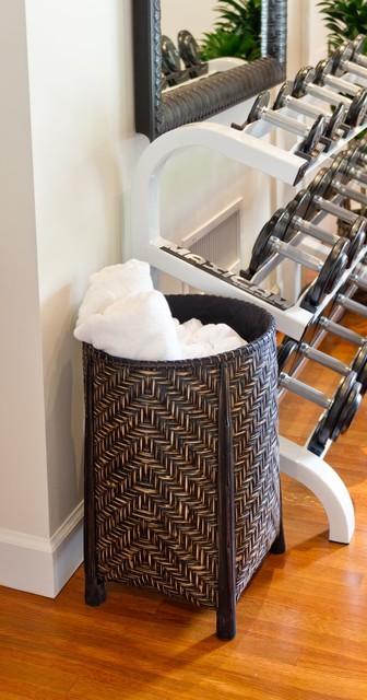 Decor Fusion - Blending Styles tropical-home-gym