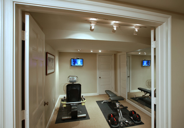 Deobald traditional home gym dc metro by finecraft