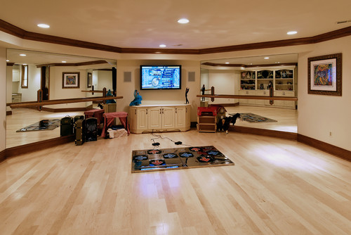The Best Home Dance Studio And Work Out Space Ideas For Basements