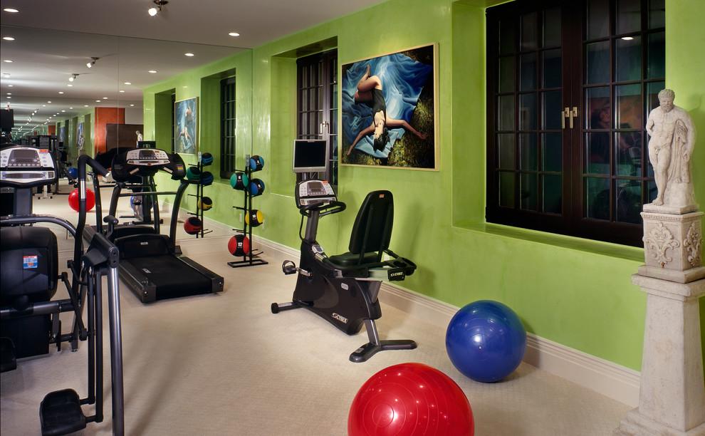 Home gym - modern home gym idea in Charleston