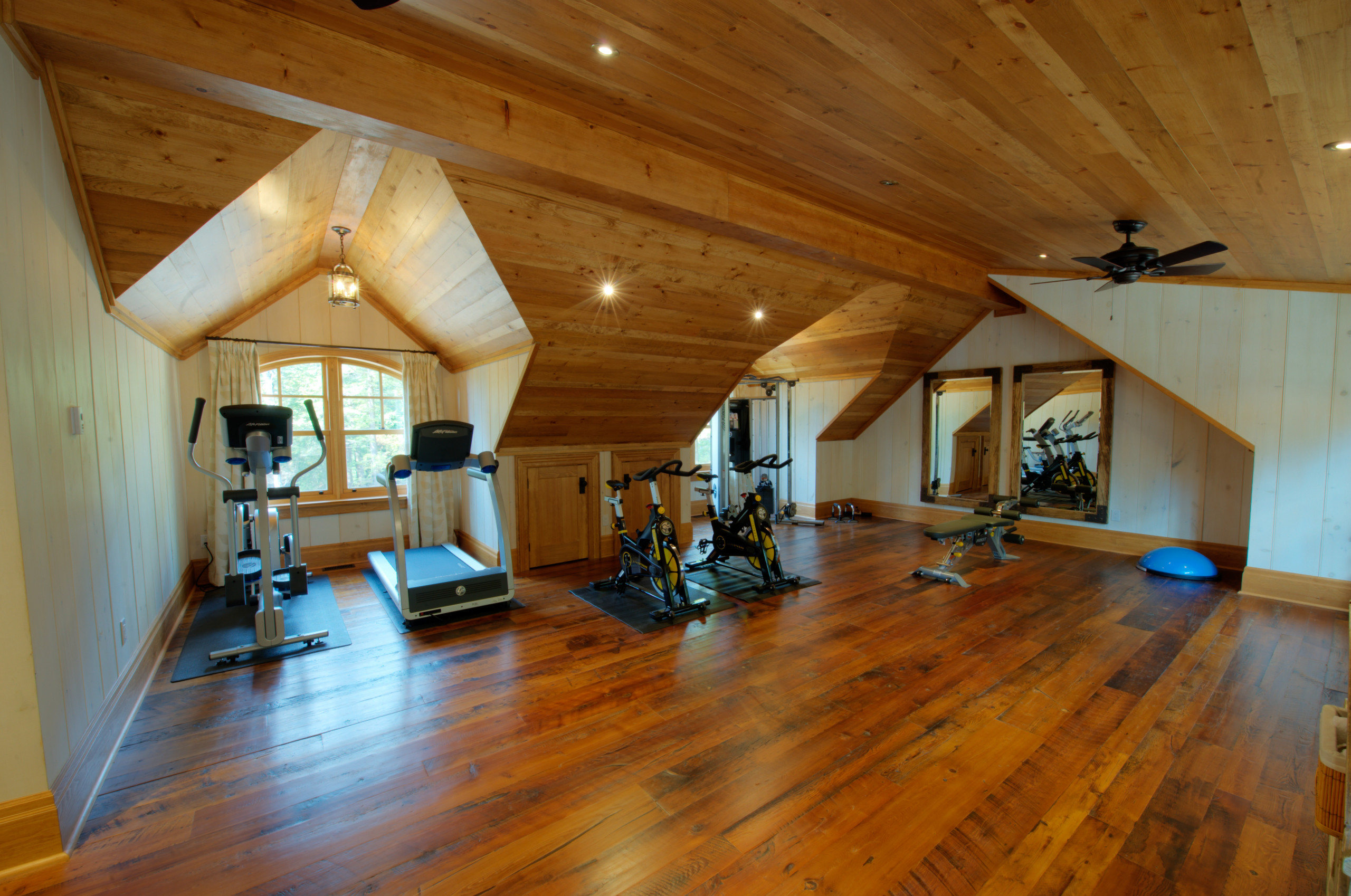 75 Beautiful Rustic Home Gym With Beige Walls Pictures Ideas August 2020 Houzz