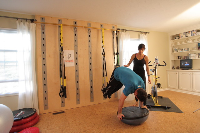 Eclectic home gym