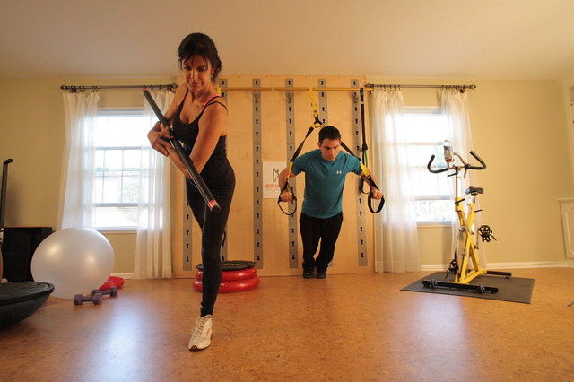 Eclectic Home Gym eclectic-home-gym