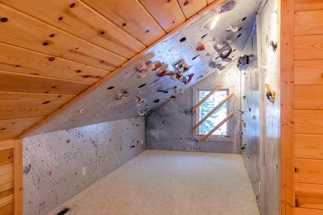 Climbing walls eclectic home gym sacramento by tahoe real
