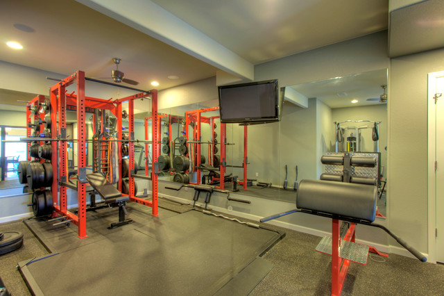 Erie Basement Finish - Traditional - Home Gym - denver - by Blue Sky Remodeling