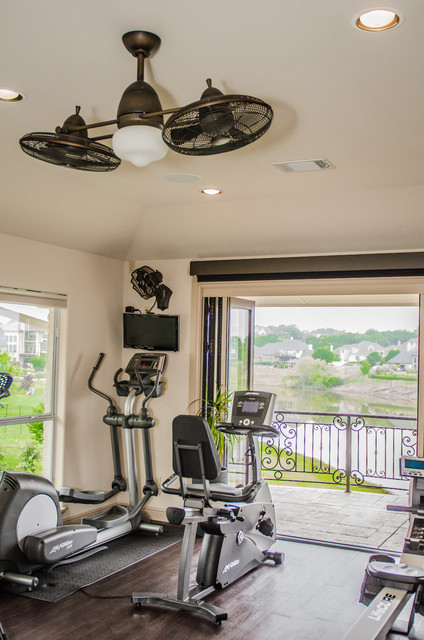 Excercise room traditional home gym