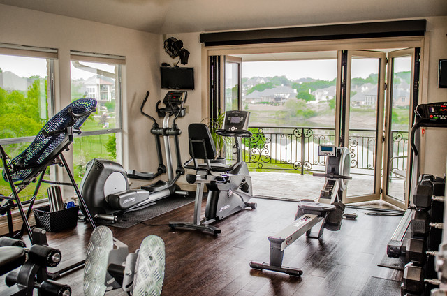 Excercise room traditional home gym dallas by