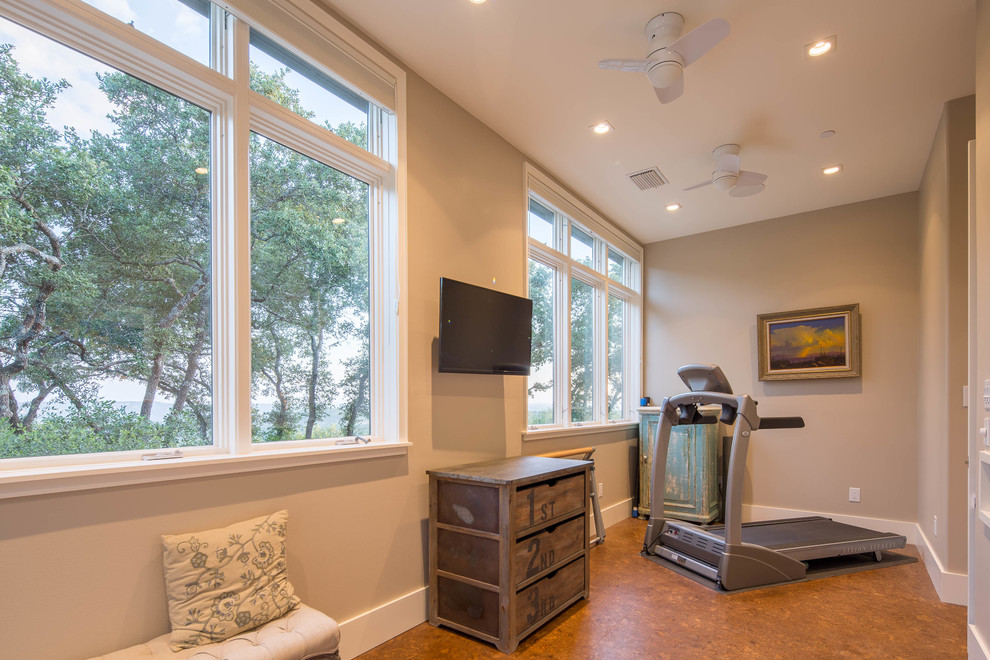 Exercise Room Addition Modern Home Gym Austin By Realty Restoration Llc
