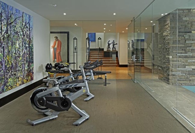 Exercise room contemporary home gym toronto by