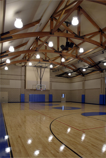 Family Recreation Barn Gym Traditional Home Gym