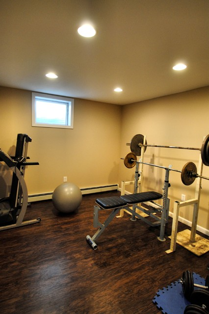Farmingdale basement traditional home gym new york by