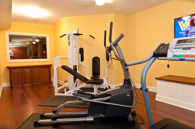 Finish Basement Fox Meadows traditional-home-gym
