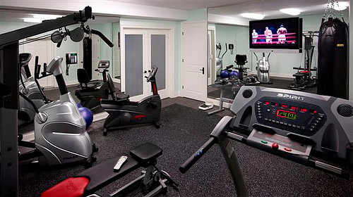 Fitness room traditional home gym toronto by dell