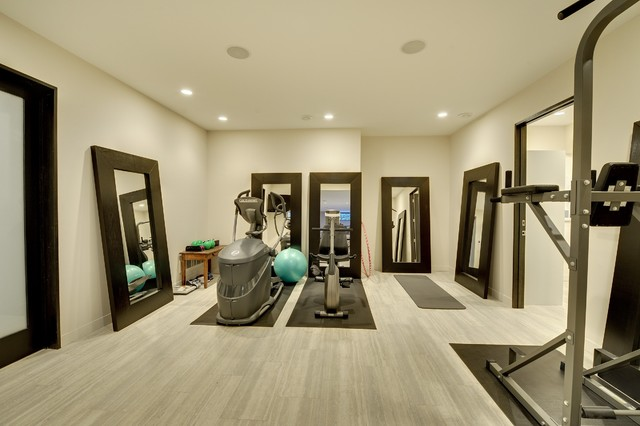 Fitness room lower level