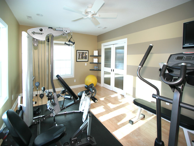 Fitness room remodel traditional home gym other