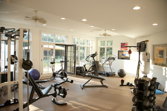 French country estate traditional home gym detroit for Home gym room