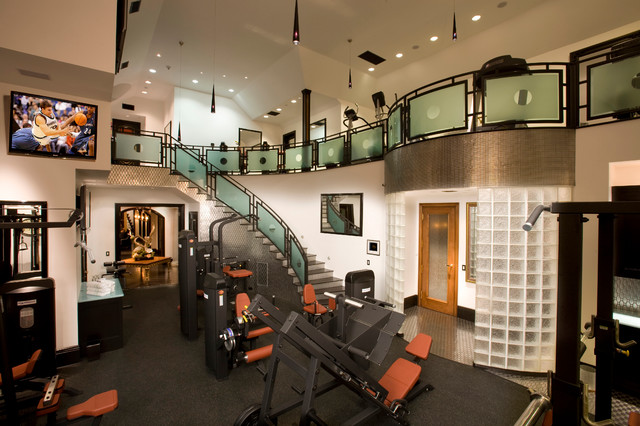 Bon French Style Custom Estate Featured On HGTV Traditional Home Gym