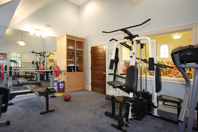 Fun Rooms traditional-home-gym