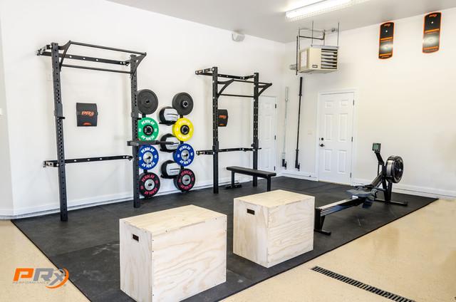 garage gym. Black Bedroom Furniture Sets. Home Design Ideas