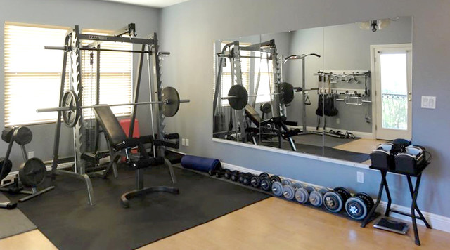 Gym mirrors modern home gym dc metro by dulles glass and