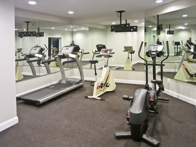 Gym Mirrors - Modern - Home Gym - dc metro - by Dulles ...