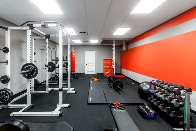 gym moderne salle de sport orlando par zoltan construction llc. Black Bedroom Furniture Sets. Home Design Ideas