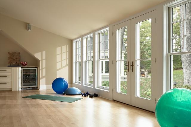 Gymnasium over existing garage traditional home gym