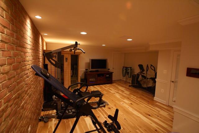 Hamilton, VA Basement Finish traditional-home-gym