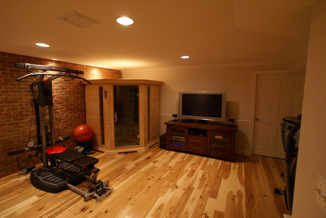 Hamilton va basement finish traditional home gym dc for Building a sauna in the basement