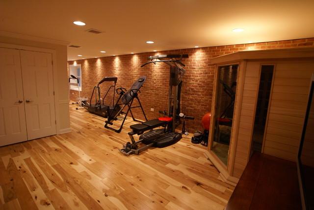 Hamilton Va Basement Finish Traditional Home Gym Dc