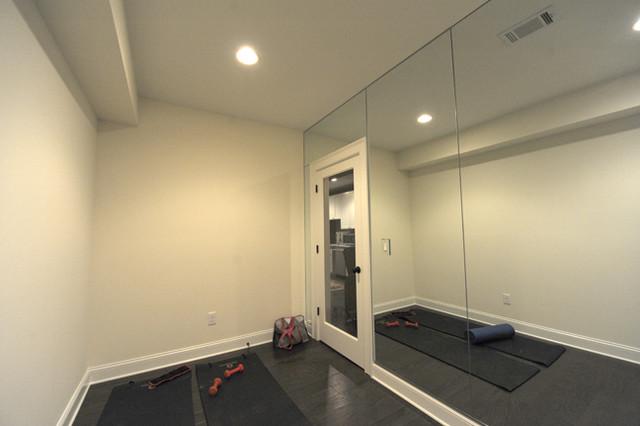 Heirloom design build modern basement renovation