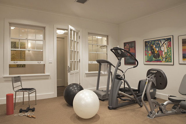 Hillgrove Project - traditional - home gym - los angeles - by Tim ...