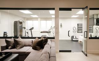 hilltop residence  contemporary  home gym  denver