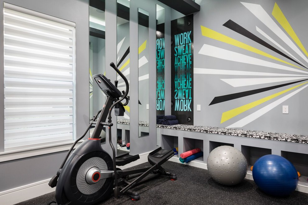 Inspiration for a contemporary home gym remodel in Orlando