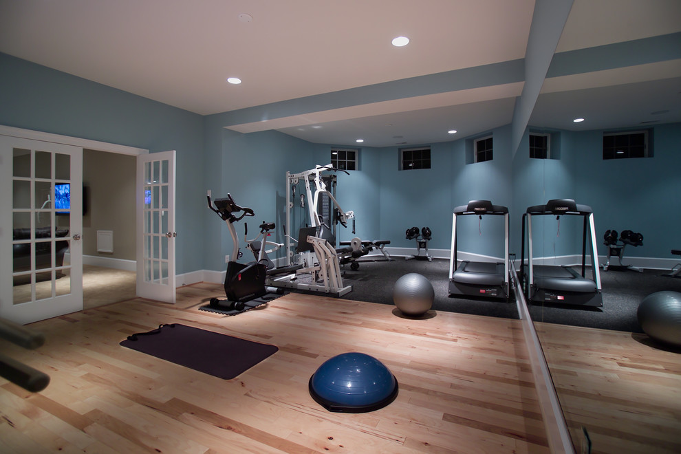 Example of a minimalist home gym design in DC Metro