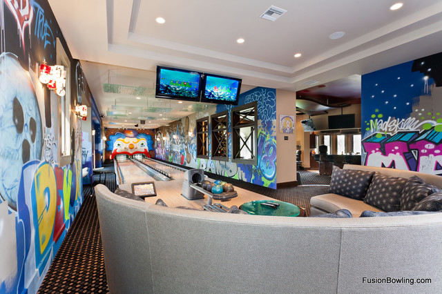 Home Bowling Alley Of New York Yankees Player Eclectic