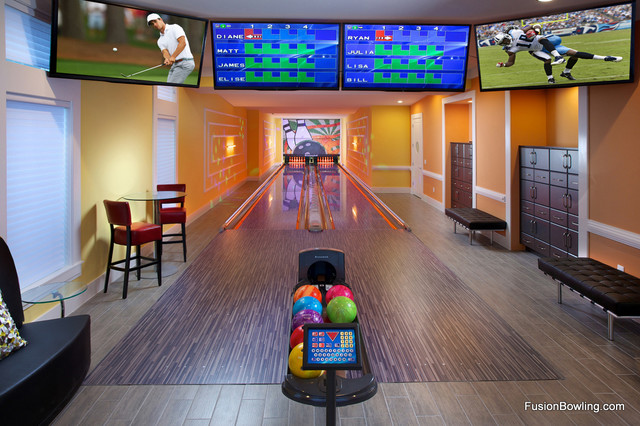 home bowling alley reunion fl contemporary home gym